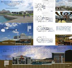 Presentation idea    Thesis: Sensory Architecture by Heather Kvanbeck, via Behance
