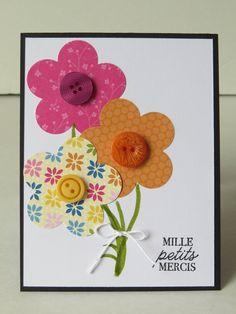 Carte de remerciement éducatrice, carte de remerciement gardienne, carte de remerciement professeur «Mille petits mercis» de la boutique Lamainalacarte sur Etsy