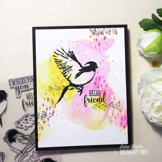 "Memory Box ""Bird Sanctuary"" Stamp Set | wc: Zig CC Markers (7.9.17)"