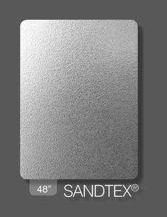 Rigidized Stainless Steel Pattern : SANDTEX Finish : SANDTEX