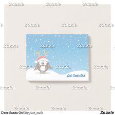 Deer Santa Owl Post-It-Notes pad.
