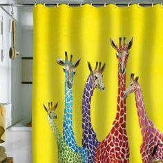 Unusual Giraffe Shower Curtains
