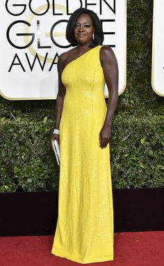 Viola Davis from Best Dressed at Golden Globes 2017  We saw plenty of yellow gowns on this red carpet, but no one looks as good as the How to Get Away with Murder star in Michael Kors Collection.