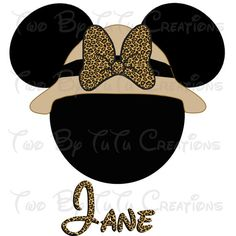 Disney Family Printable Minnie Mouse Safari by TwoByTuTuCreations, $5.00