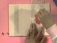 Como hacer una caja para zapatillas de baile - Pintura decorativa - Stencil - YouTube