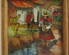 Peru Glass Paintings//Souvenir Peru//Glass Painting - Edit Listing - Etsy