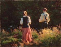 Summer - Mike Malm-Just one Salt Lake City Utah, Malm, Modern Drawing, Art Archive, Couple Art, Fairy Land, Figure Painting, Beautiful World, Backdrops