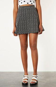 Topshop Cross Stitch Print Skirt 80.00 at #Nordstrom