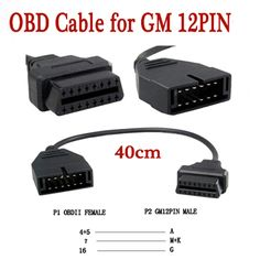 For G-M 12 Pin 12Pin OBD 2 Connector Adapter for gm12 pin obd2 obdii Auto Car Accessories Diagnostic Extension Cable 16 Pin