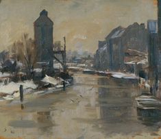 BBC - Your Paintings - The Frozen River, Norwich by Edward Brian Seago Winter Painting, Winter Art, Post Impressionism, Impressionist Art, Painting & Drawing, Watercolor Paintings, Watercolours, Art Uk, Renaissance Art