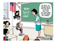 Back to School is changing. Cartoon by Jeff Parker