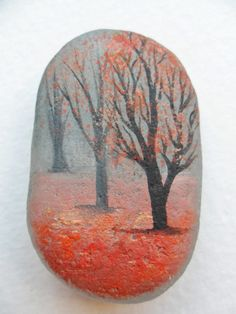 Misty autumn forest  original acrylic by Alienstoatdesigns
