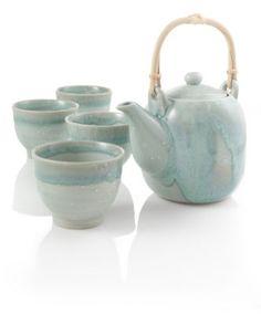 Yuki Green Drip Tea Set    Krystel. I like this one alot.