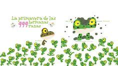 """La primavera de las 999 hermanas ranas de Ken Kimura. Barbara Fiore Editora. """"Mamá rana despierta a sus 999 hijas. ¡Es primavera! ¡Ya podéis levantaros! Pero… ¿que ha pasado? Mamá rana cuenta a sus hijas una y otra vez, y solo hay 998. La hermana mayor aún no se ha despertado…"""""""