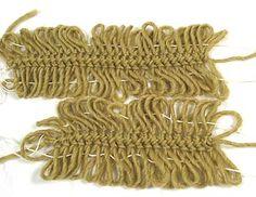 Horquilla de encaje, Uniendo las tiras con un cable de Ingreso, Etapa 1