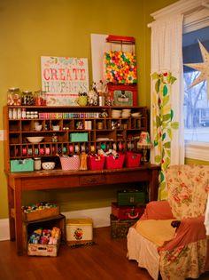 next house will have pom pom trim on curtains somewhere. :)  I love the craft house! (Meg - Whatever blog)