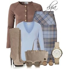 Very classic colour combo, latte and pastel baby blue!
