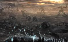 soldiers war army demons fantasy art  / 1680x1050 Wallpaper