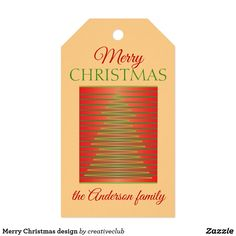 Merry Christmas design #gifttags #christmasgifttags