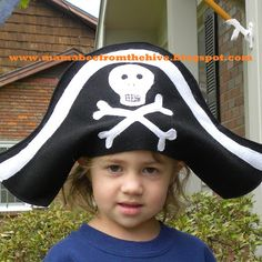 e66656ae2c6af From The Hive  pirate hat tutorial Pirate Hat Crafts