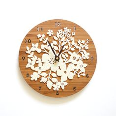 Wall Clock  Bouquet Flower design by decoylab on Etsy, $88.00