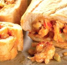 OMG!  Delicious!!!  Cajun Crawfish- Stuffed French Bread Recipe. If you don't like crawfish use shrimp or crab.  This link also has recipes for margarita shrimp, creole potato salad, and bourbon brownies!  All sound scrumptious!!!