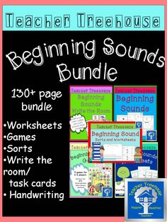This is a 130+ page bundle of all my beginning sounds products. Every time I create a new beginning sound item it will be added to this bundle and you will be able to redownload it for free.