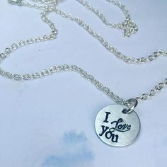Silver Disk Necklace