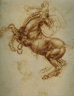 Leonardo da Vinci, Study of a Horse, undated, Galleria delgli Uffizi, Florence, Italy.