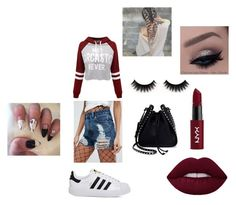 """""""Louise's normal look #1"""" by steffie-welvaert on Polyvore featuring mode, ASOS, WithChic, adidas, Valentino en NYX"""