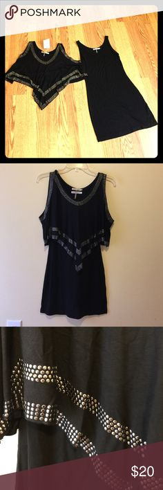 Layered tunic top/dress 2pc tunic/dress with studs on top layer. 95% rayon 5% spandex. True to size Tops Tunics