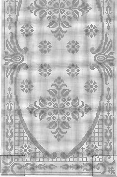 No automatic alt text available. Filet Crochet Charts, Crochet Borders, Crochet Cross, Thread Crochet, Crochet Patterns, Crochet Tablecloth Pattern, Crochet Curtains, Cross Stitch Fruit, Cross Stitch Rose