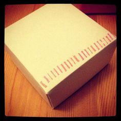 origami box with 消しゴムハンコ  シマシマはんこを。#origami - @chinhako- #webstagram
