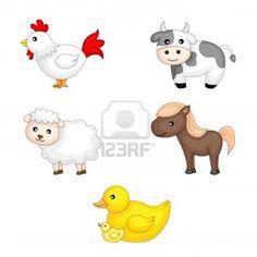 Ein Vektor-Illustration von Nutztieren Grafik Stockfoto - 13319862