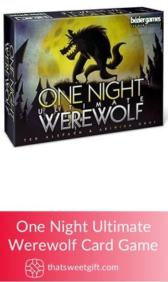 Revitalize game nights with your friends with this exciting One Night Ultimate Werewolf Card Game and get the wild spirits going! Werewolf Card Game, Wild Spirit, Gamer Gifts, Game Night, First Night, Game Room, Card Games, Unique Gifts, Geek Stuff