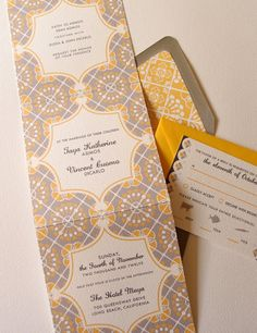 interesting invitation folds - Google Search