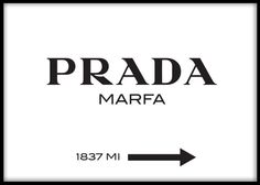 Prada Marfa poster typography. Find other fashion posters and art prints at www.desenio.se