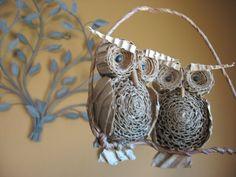 Cardboard Owl Duo / Nursery Decor