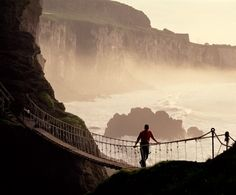 The Carrick-a-Rede rope bridge in Ballintoy, Co Antrim    Image from Tourism Ireland