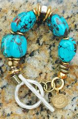 Turquoise Bracelet | Statement | Gold | Silver | Chunky | XO Gallery | XO Gallery