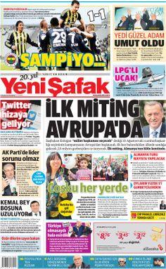 21 Nisan 2014 birinci sayfa ve manşetimiz