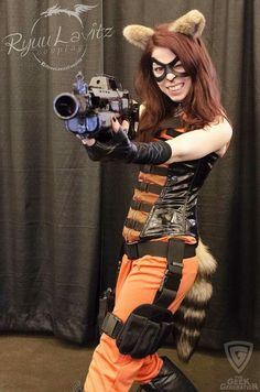 Character: Rocket Racoon (Rule #63) / From: MARVEL Comics 'Gaurdians of the Galaxy' / Cosplayer: Ryuu Lavitz