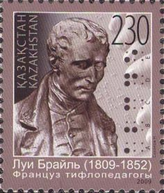2009 Kazakhstan Bicentenary of the Birth of Louis Braille 1809-1852