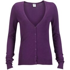 Vero Moda Cardigan Glory Purple ($17) ❤ liked on Polyvore featuring tops, cardigans, sweaters, outerwear, jackets, vero moda, purple cardigan, purple top, v neck cardigan and button cardigan