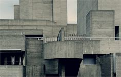 The National Theatre, London, completed in 1976