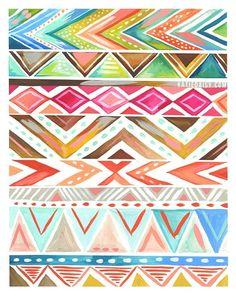 Azalea Stripe by Katie Daisy | Iphone Wallpaper