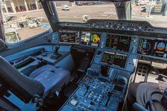 Airbus A350 cockpit .