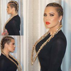 The braids of Khloe Kardashian - Hair Color 02 Cute Braided Hairstyles, Girl Hairstyles, Hairstyles 2018, Khloe Kardashian Braids, Long Hair Wedding Styles, Short Hair Styles, Girls Braids, Hair Images, Hair Videos