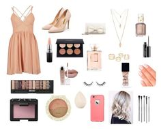 Nude palette by natc2003 on Polyvore featuring polyvore, beauty, NARS Cosmetics, Christian Dior, MAC Cosmetics, esum, Elegant Touch, Essie, LifeProof, Forever 21, RED Valentino and Rupert Sanderson