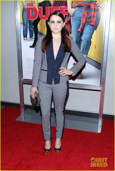Mae Whitman Wows In Chic Pantsuit At 'The DUFF' New York Premiere